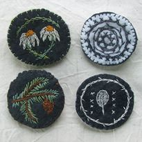 Embroidered Felt Brooch Project