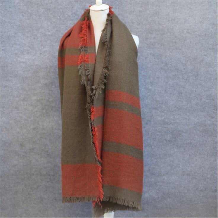 Color-Block Large Quality Women's Fashion Soft Cashmere Shawl Scarf 5 Colors
