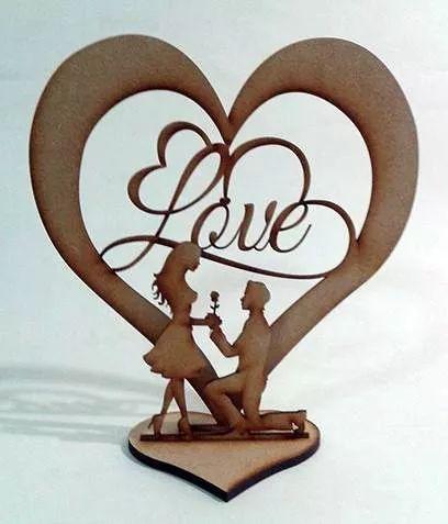 centro de mesa 3d mdf letras love pareja boda o quince años