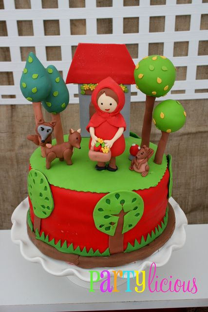 Little Red Riding Hood birthday cake for a little girl's birthday party! @Ryann Silva will you make this for me?? :)