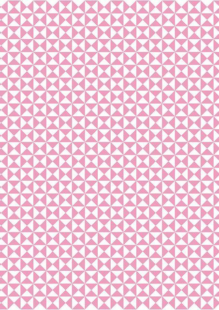 Pink and white geometric love | Jasna Janekovic, January 2013