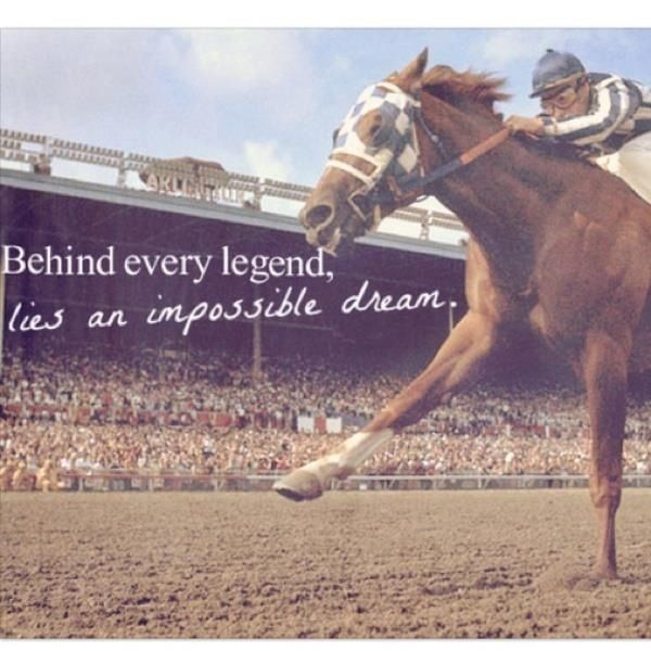Behind every legend is an impossible dream but with the help of your horse they make that impossible seeming dream come true!