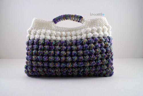 Bobble Stitch clutch #crochet purse free pattern @bhookedcrochet