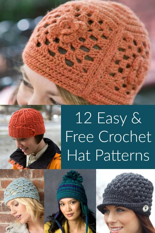ccab4efe3c7 Keep Warm with 12 Easy   Free Crochet Hat Patterns. Great options for  beginners. Make these for women . . . some are generic enough for men.