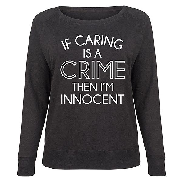 LC trendz Plus Black 'I'm Innocent' Slouchy Pullover (455 MXN) ❤ liked on Polyvore featuring plus size women's fashion, plus size clothing, plus size tops, plus size, slouchy pullover, plus size pullover, pullover top and womens plus tops