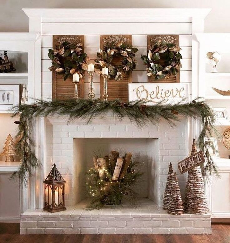 25 Rustic Winter Fireplace Mantel Decors To Copy Now In