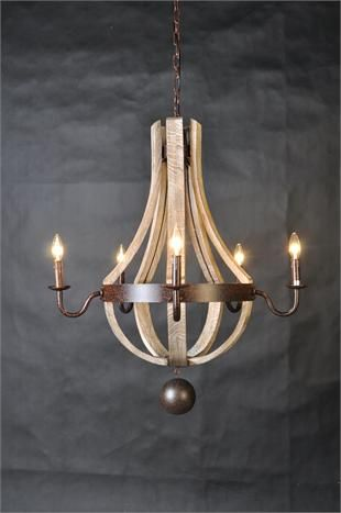 So simple and unassuming, yet I can't stop looking at it! Macon French Wine Barrel Chandelier