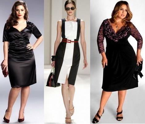 Купить стильное платье для полных