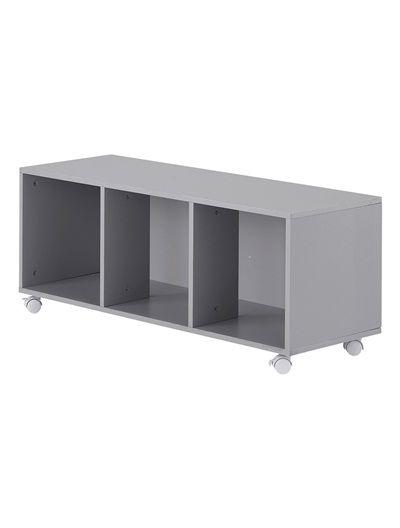 meuble bas de rangement blanc gris vertbaudet enfant 49 95 euros d co chambre enfants. Black Bedroom Furniture Sets. Home Design Ideas