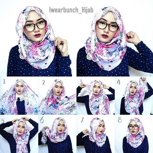 Simple Hijab Tutorials For Glasses