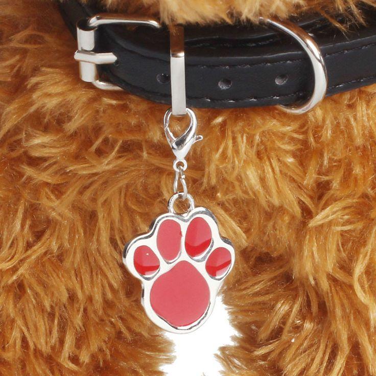 Nouveau 6 couleurs Bijoux Pour Animaux de compagnie Chat chien collier pendentif balises Pawprint Collier Collier Chiot identité col accessoire drop shipping