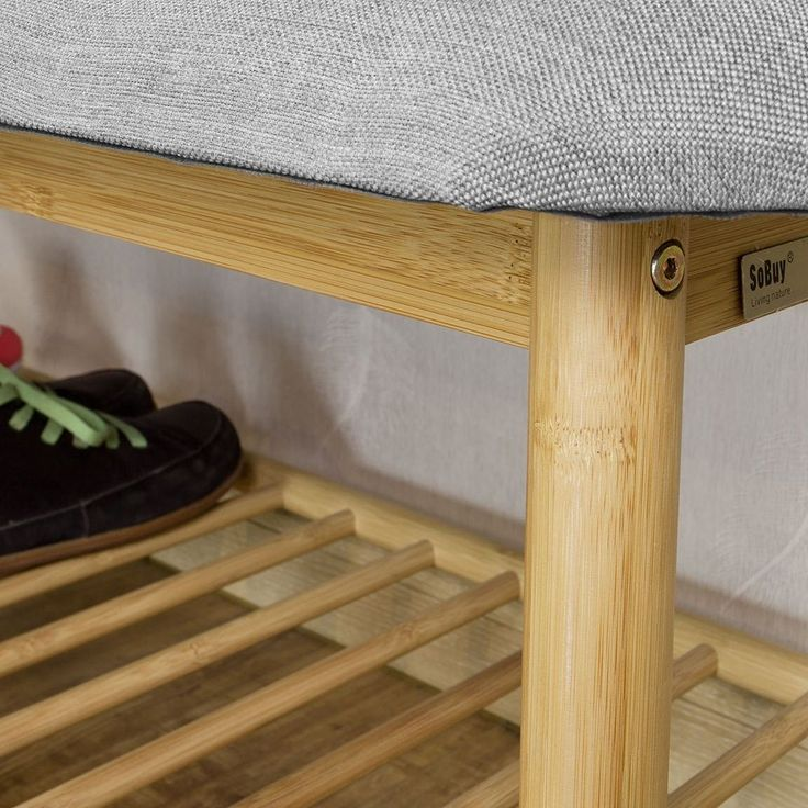 SoBuy® Hallway Shoe Rack,Seat Bench,Bed End Bench with Seat Cushion,FSR24-HG, UK | eBay
