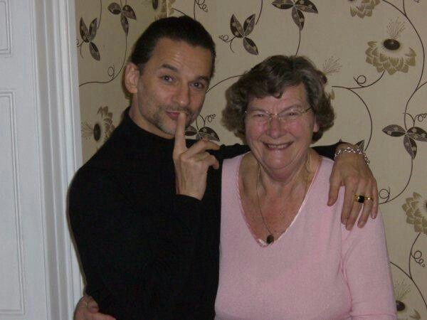 Dave with his mum ~ Bless this woman for giving us this talented and gorgeous man.
