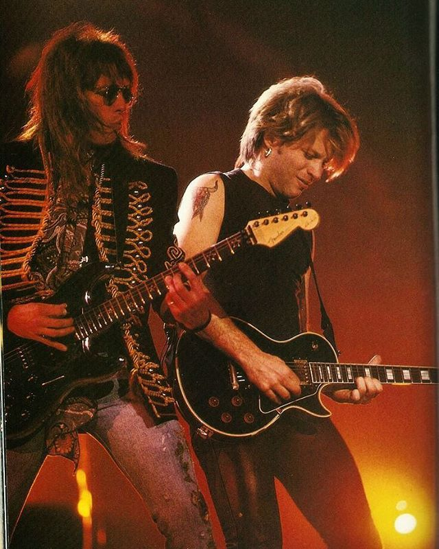 Jon and Richie  90s concert  what's your fav music genre and what genre you hate/don't like? My fav is rock and alternative rock. I hate rap I can't stand rap songs eww (sorry just my opinion) #bonjovi #jonbonjovi #rock #rockbands #90sconcert #music #realmusic #realmen #realmusicians #songwriters