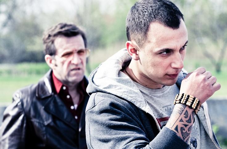 Roger Léger (left/gauche) & Samian   Rock Paper Scissors - The Movie   Roche Papier Ciseaux - Le Film   Directed by/Réalisé par Yan Lanouette Turgeon