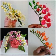 Gum Paste Freesia Tutorial  How to make Gum Paste Freesia  With and Without…