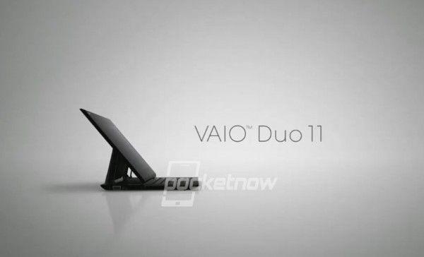 La tablette hybride Sony VAIO Duo 11 se dévoile. C'est à l'IFA qui débute jeudi à Berlin, que Sony devrait annoncer sa tablette hybride VAIO Duo 11 sous Windows 8. Le leak qui provient du site pocketnow nous montre une tablette convertible équipée d'un écran tactile de 11″ (compatible stylet) et d'un clavier type slide qui vient se ranger sous ce dernier, le tout tournant visiblement avec un processeur Intel.