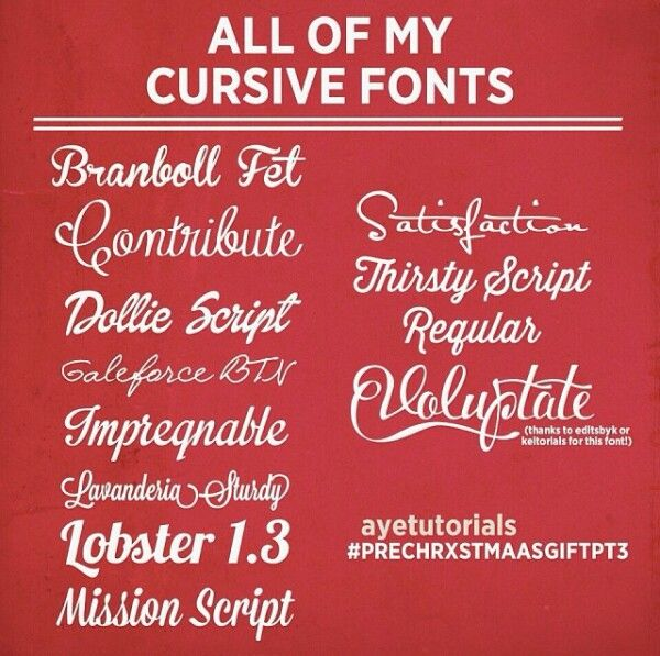 Cursive fonts cr to ayetutorials Instagram Edit tutorial