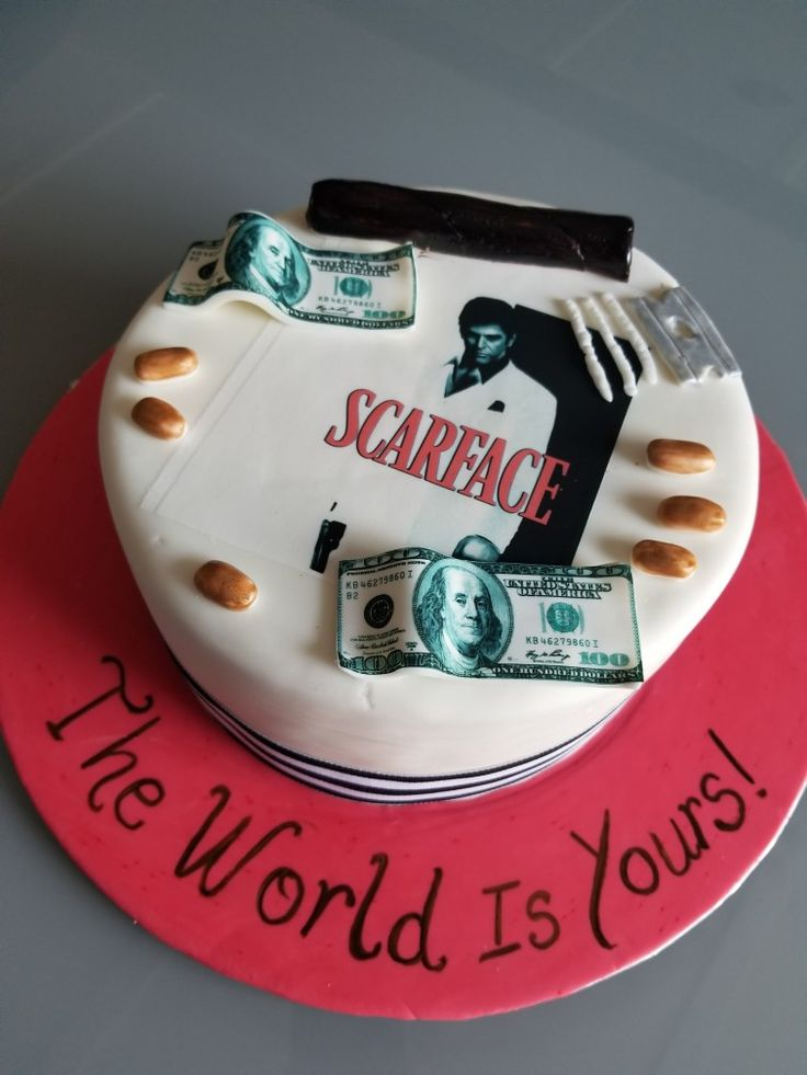 Scarface birthday cake