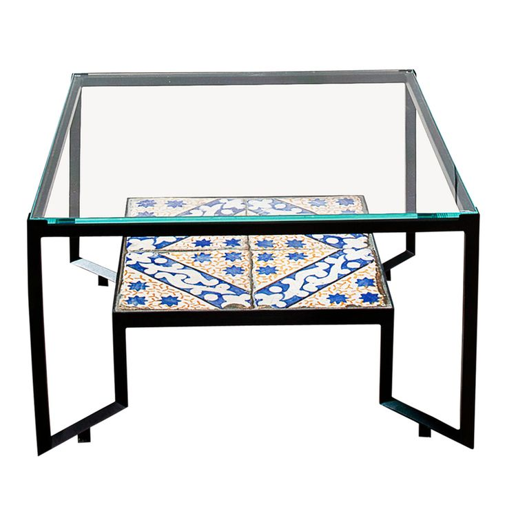 Glass and Tiles Spider Table (=)