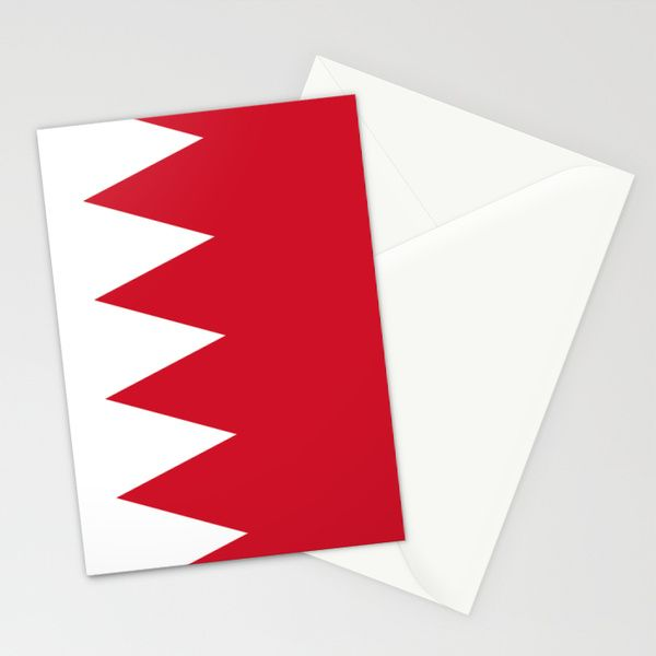 The flag of the Kingdom of Bahrain - Authentic version Stationery Cards by LonestarDesigns2020 - Flags Designs + | Society6