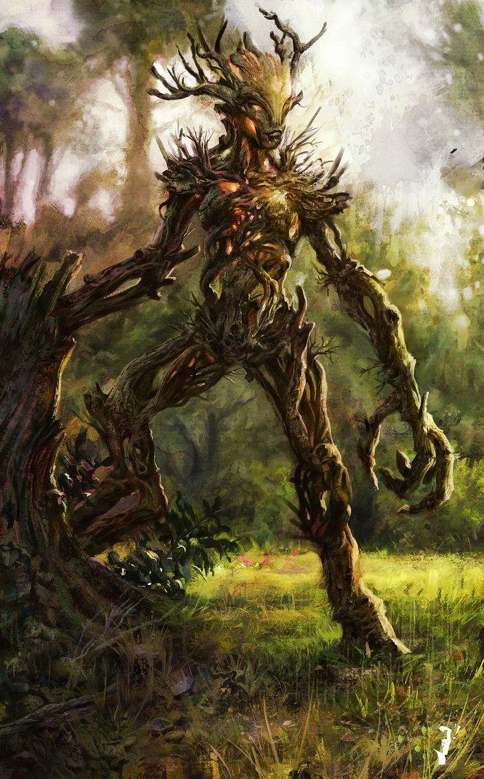 Elder Scrolls - Spriggan by RobertoGomesArt on deviantART