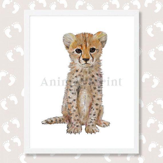 Cheetah Print Cheetah Nursery Art Cheetah Painting by AnimArtPrint