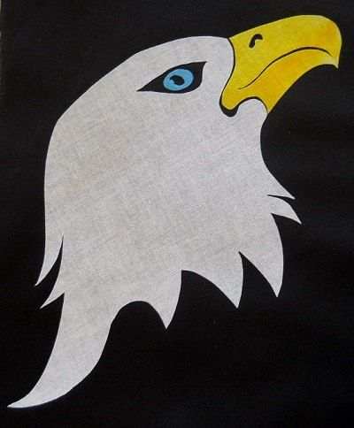 手机壳定制mens silver jewellry Eagle Head  Quilt Applique Pattern Design by HumburgCreations