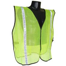 "Radians Hi Vis Green Vest NON Rated 1"" Reflective Tape SVG1 