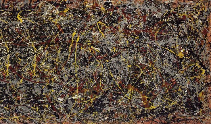 """""""No. 5,"""" by Jackson Pollock. 1948. Went for £89 million in 2006."""