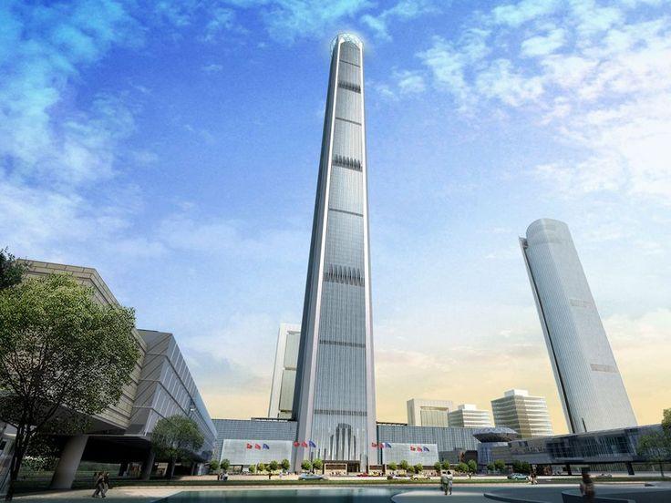 Goldin Finance 117 — Tianjin, China. Height (when completed): 1,958.68 feet  Read more: http://www.businessinsider.com/tallest-skyscrapers-under-construction-2013-4?op=1#ixzz2SMUkF0eM