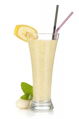 Speiseplan-Happy-Diät - Bananen shake