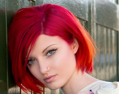 red color trend for hair extensions and wigs