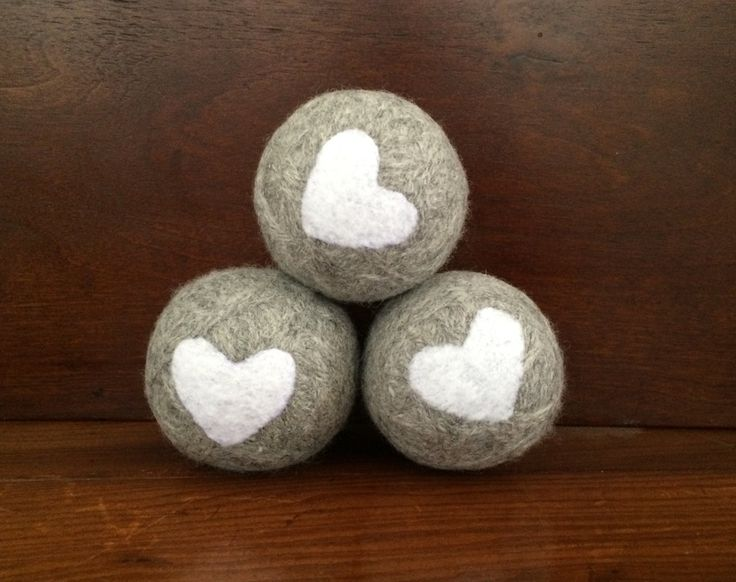 Wool Dryer Balls (set of 3) ~ Eco Friendly Non Toxic Alternative to Dryer Sheets by ConnieReverieDesign on Etsy