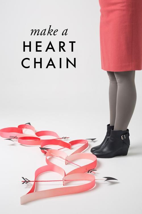 So simple! So cute! We're in <3 with this oversized heart chain tutorial. #valentines #diy