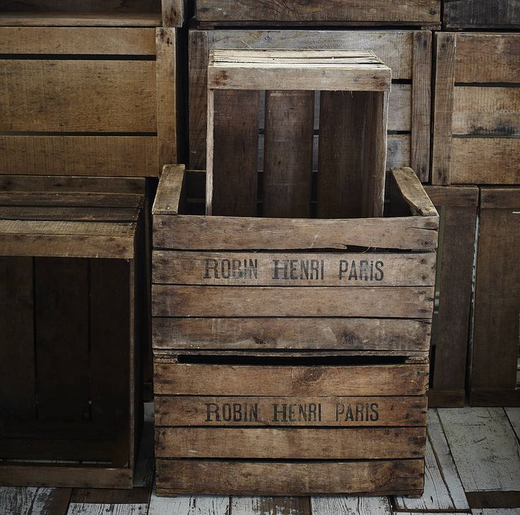 old crates | Wooden Apple Crates