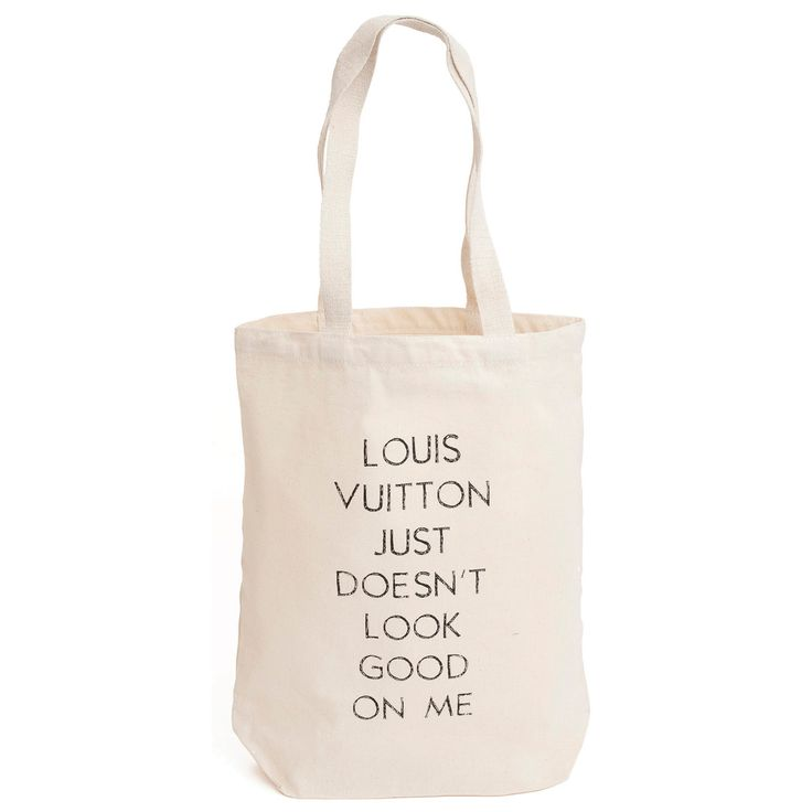 Shopcaster.com | Louis Vuitton Just Doesn't Look Good on Me - Maude & Tilda - natural tote bag - LV