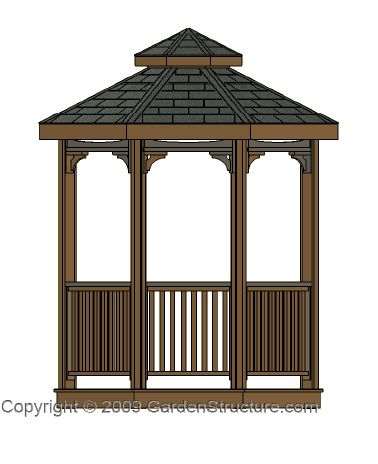 85 best images about gazebos on pinterest gardens green for Build your own gazebo free plans