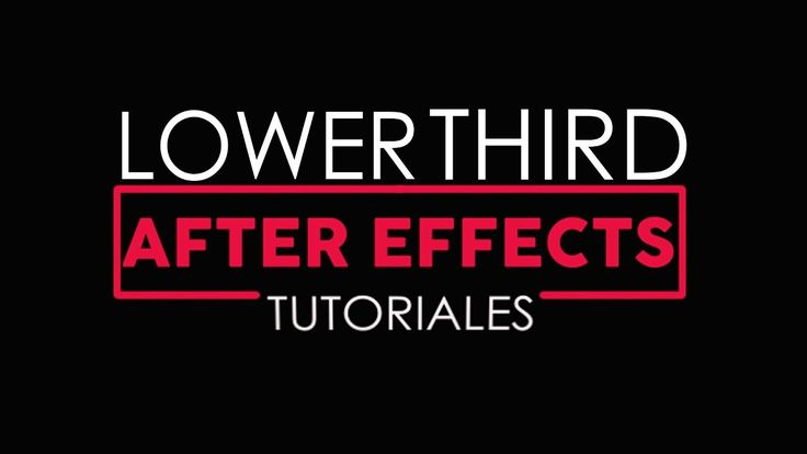 Lower Third After Effects Tutorial