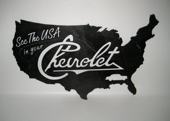 See The Usa In Your Chevrolet Sign Steel Handmade Custom