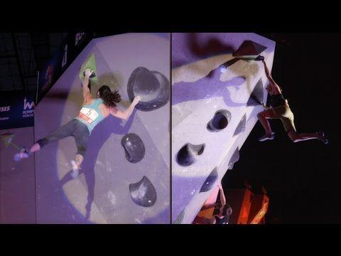 ▶ Bouldering World Championships 2014, female podium (Akiyo Noguchi, Alex Puccio and Juliane Wurm) compared - YouTube