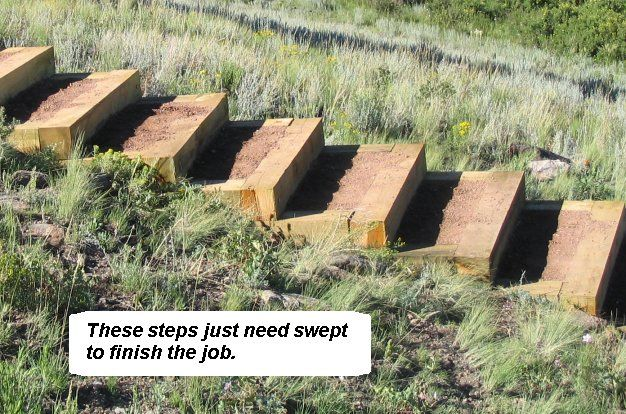 How to build steps up a hill.