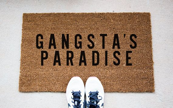 Paradise Doormat.  Size: 18 x 30 Material: 100% Coir Other: Handpainted; Permanent Acrylic Paint Care: Clean by shaking out or spot cleaning