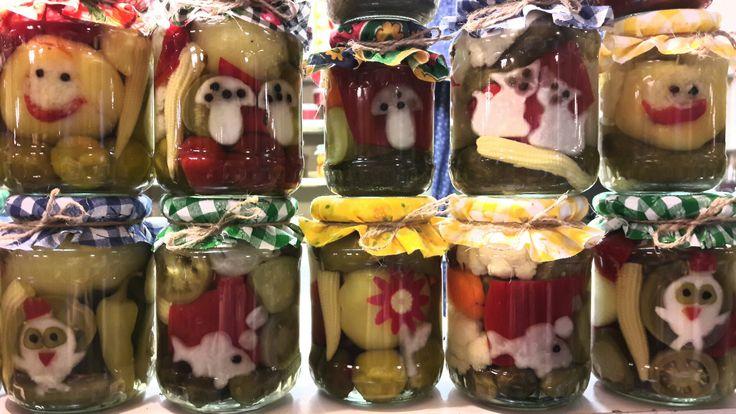 Pickles in mason jar