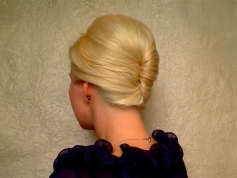 Love the outcome of this french twist you can do yourself!
