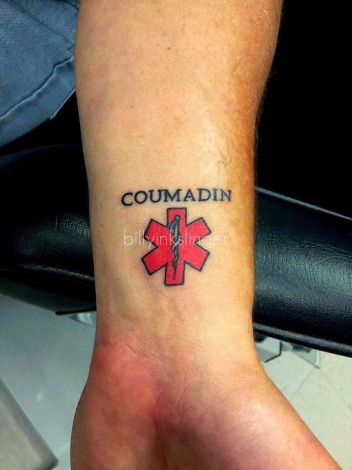9 best medical alert tat rob images on pinterest for Medical tattoo designs