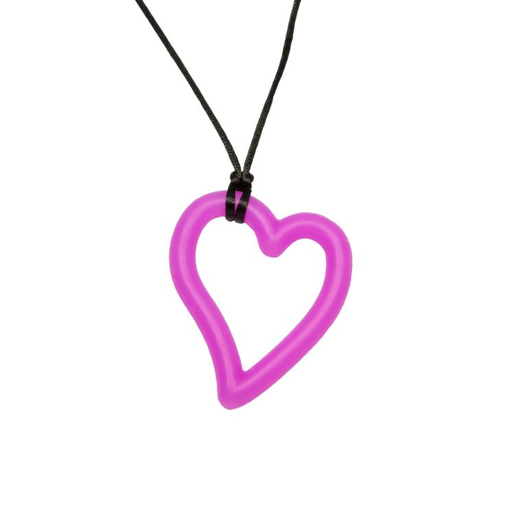 Silicone Heart Pendant - Great for giving relief to baby's pesky back molars!