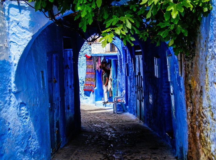 Best The Blue City Chefchaouen Morocco Images On Pinterest - Old town morocco entirely blue