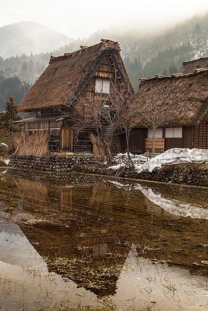 Antigas casas japonesas.