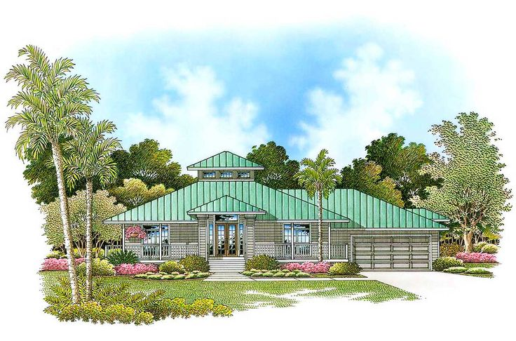 Olde Florida Style - 66055WE | Florida, Southern, 1st Floor Master Suite, Butler Walk-in Pantry, CAD Available, PDF | Architectural Designs